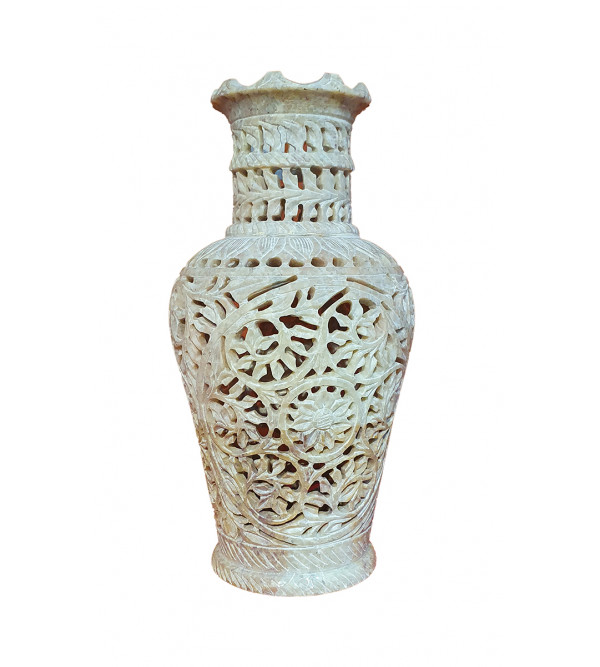 Handicraft Soap Stone Flower Vase Size 4.5 Inch