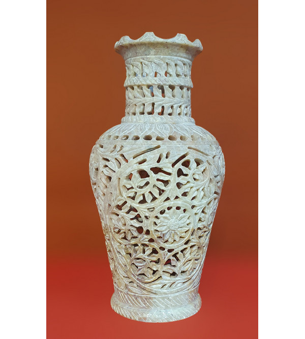 Handicraft Soap Stone Flower Vase Size 6 Inch