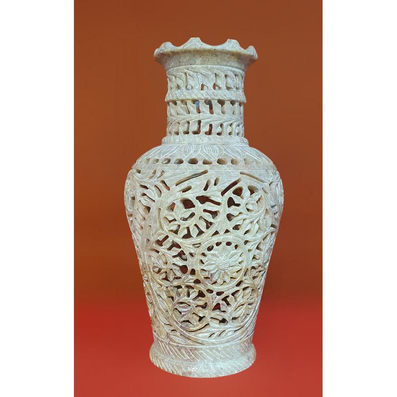 Handicraft Soft Stone Flower Vase 6 inch