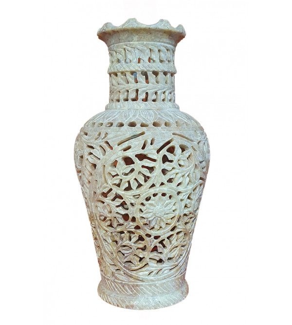 Handicraft Soap Stone Flower Vase Size 8 Inch