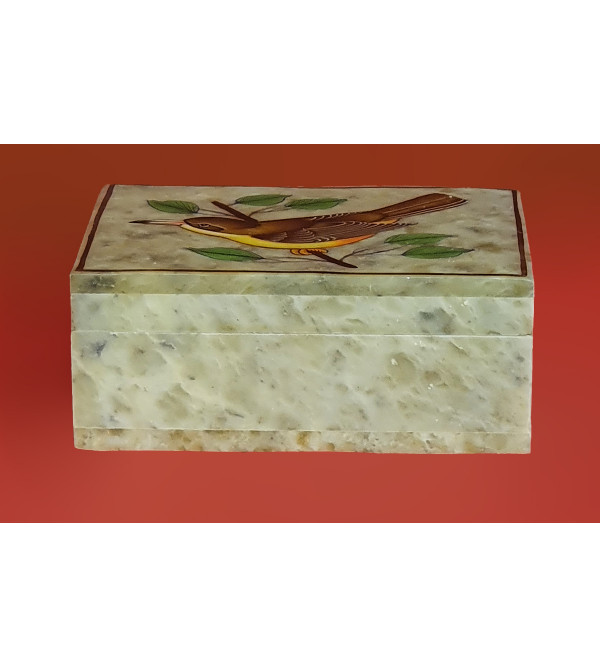 Soap stone painted box 4x3 inch