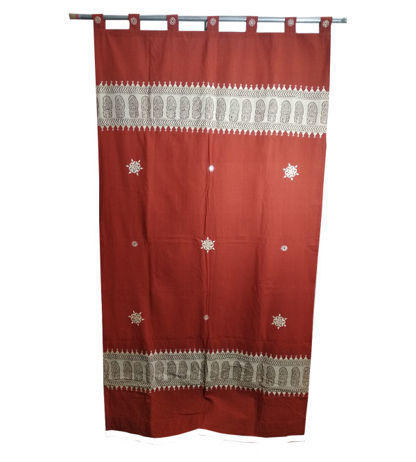 Gujarat Hand Embroidered  Cotton Curtain Size 44X84 Inch
