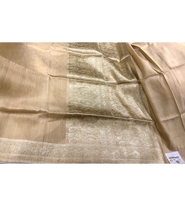 Banaras Silk Self Design Zari Border Saree with Blouse