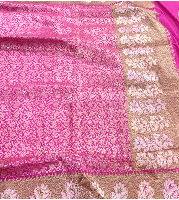 Katan Silk Handloom Banaras Zari Saree with Blouse