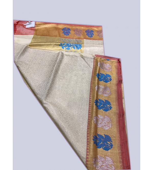Banaras silk zari border HANDLOOM SAREE with blouse