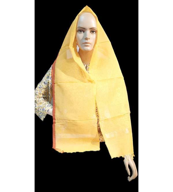 CFC Handloom Jamdani Woven Fine Muslin Stoles Size 20x70 Inch