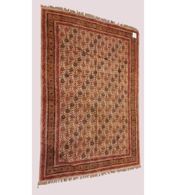 Cotton Kalamkari Handwoven Durries Size 4ft x 6 ft