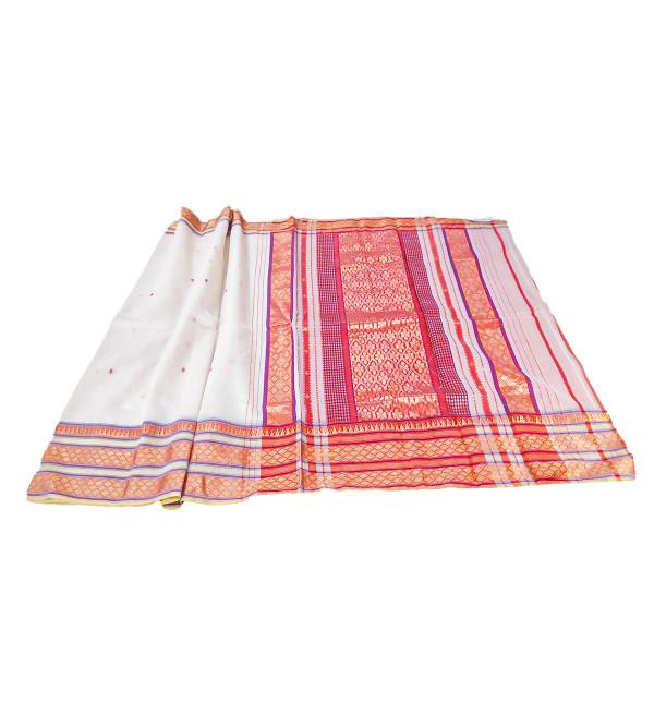 Maheshwari Handwoven Cotton Saree With Blouse