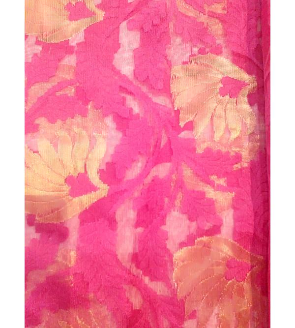 Handwoven Zari Katan Fabric From Banaras Width 44 Inch