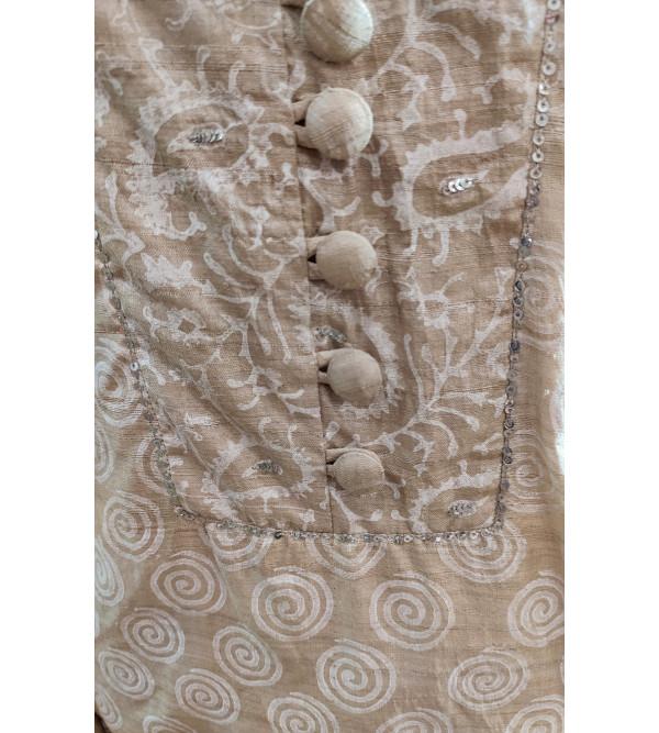 Cotton Hand Block Print Long Kurtis