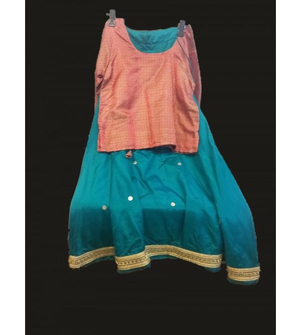 Silk Lehenga Choli Set Size 10 To 12 Years