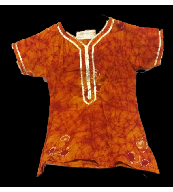 Cotton Batik Print  Kurta For Girls Size 1 to 2 Year