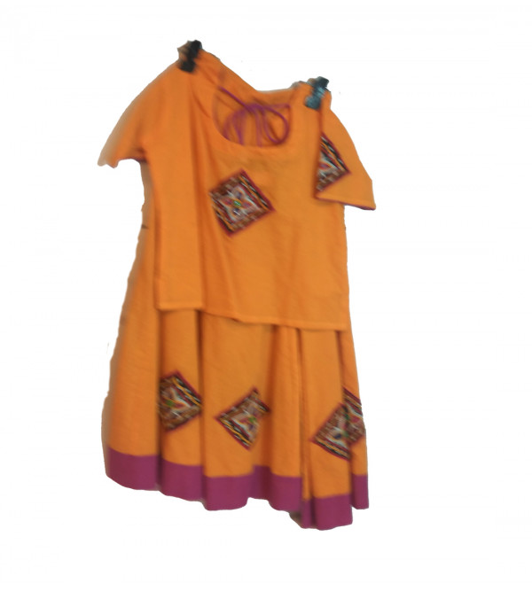Cotton Lehenga Choli Set Size 6 to 8 Year