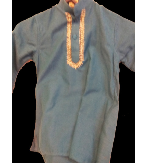 Cotton PLain Kurta Pajama Set Size 1 to 2 Year