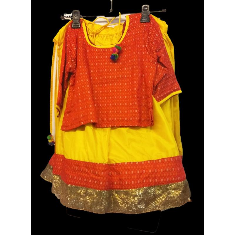Silk Lehenga Choli Set Size 1 To 2 Years