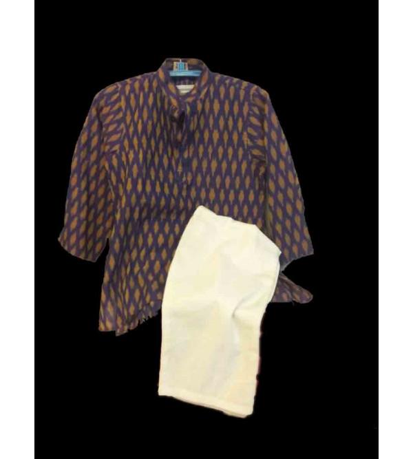 Cotton Ikat  Kurta Pajama Set Size  1 to 2 Year