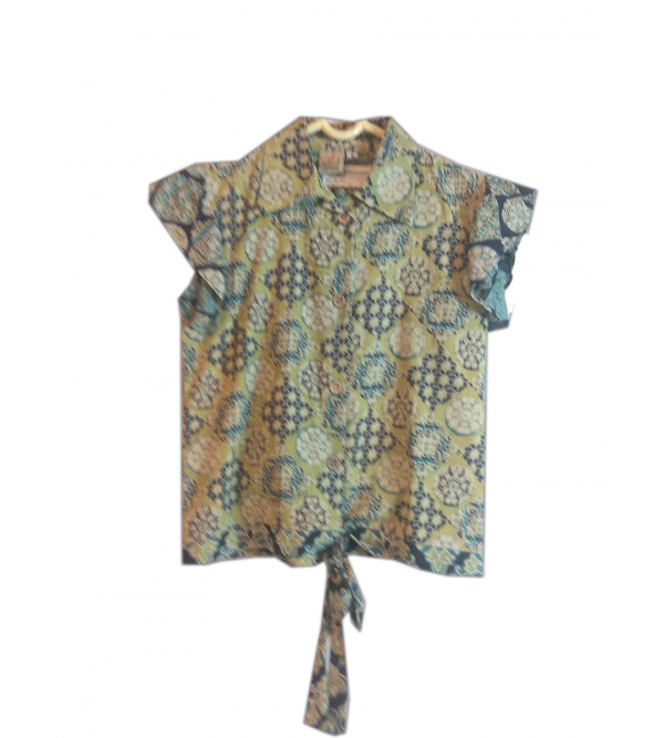 Cotton Printed Girls Top Size 6 To 8 Year
