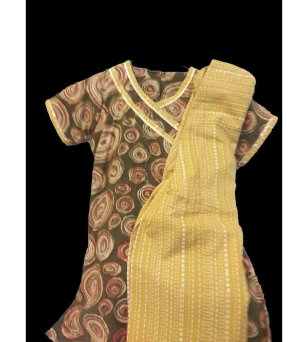 Cotton Printed Salwar Kameez Set Size 2 to 4 Year
