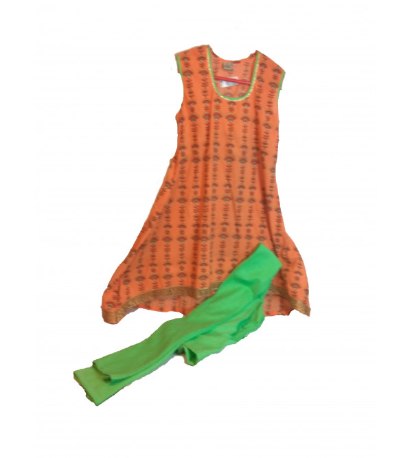 Cotton Printed Salwar Kameez Set Size 10 to 12 Year