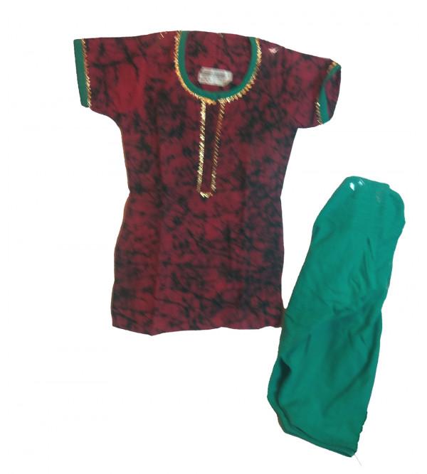 Cotton Batik Printed  Kurta  Set  For Girls Size 2 to 4 Year