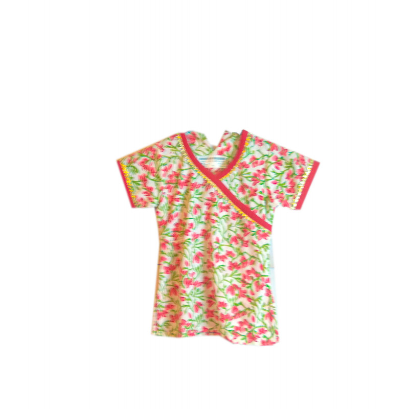 Cotton Printed Girls Kurta Size 1 to 2 Year