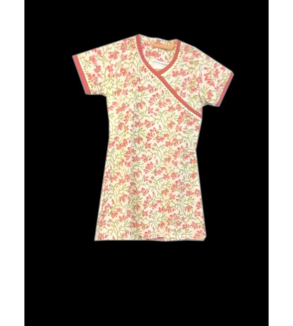 Cotton Foral Print Girls Long Kurti Size 2 to 4 Year