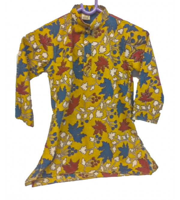 Cotton Printed Long Kurta For Boys Size 2 to 4 Year
