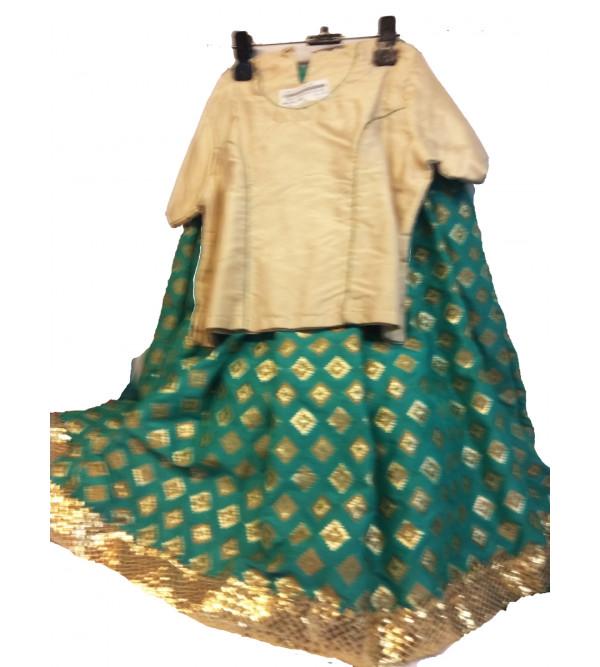 Brocade Silk Lehenga Choli Set Size 2 to 4 yr