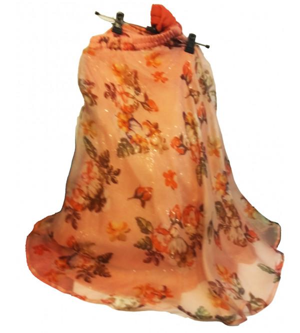 Printed Silk Lehenga  Choli Set Size2 Years