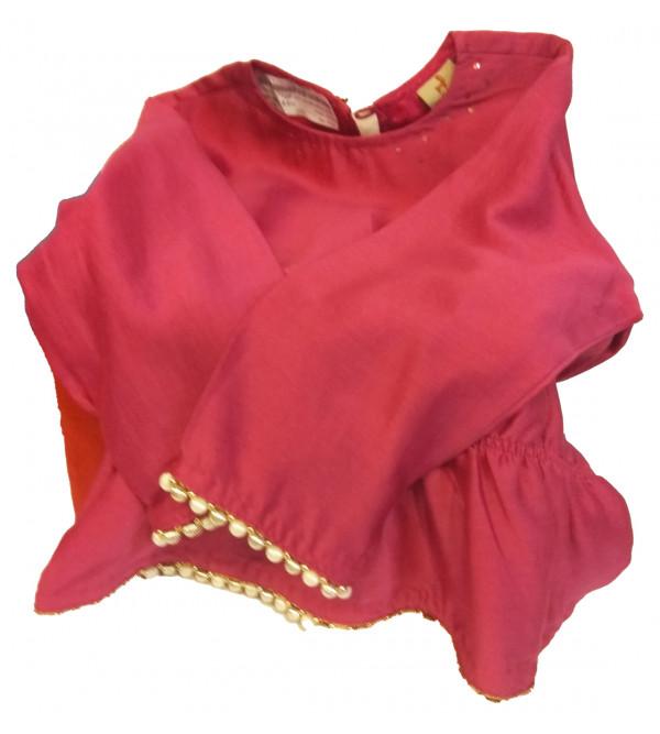 Printed Silk Lehenga  Choli Set Size 3 Years