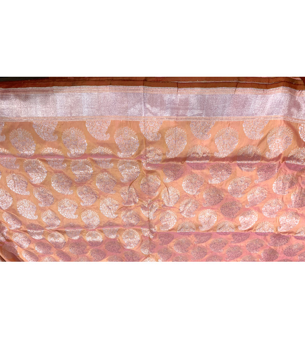 Banaras katan silk zari buti saree with blouse