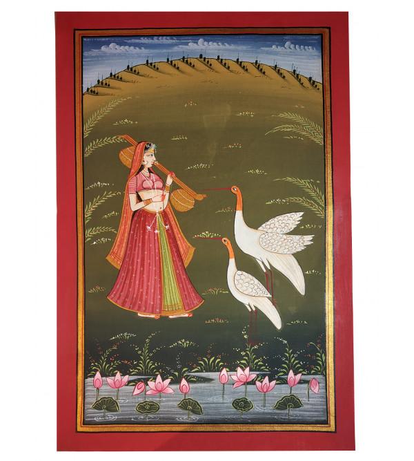 Traditional Radha Krishna Handmade Painting