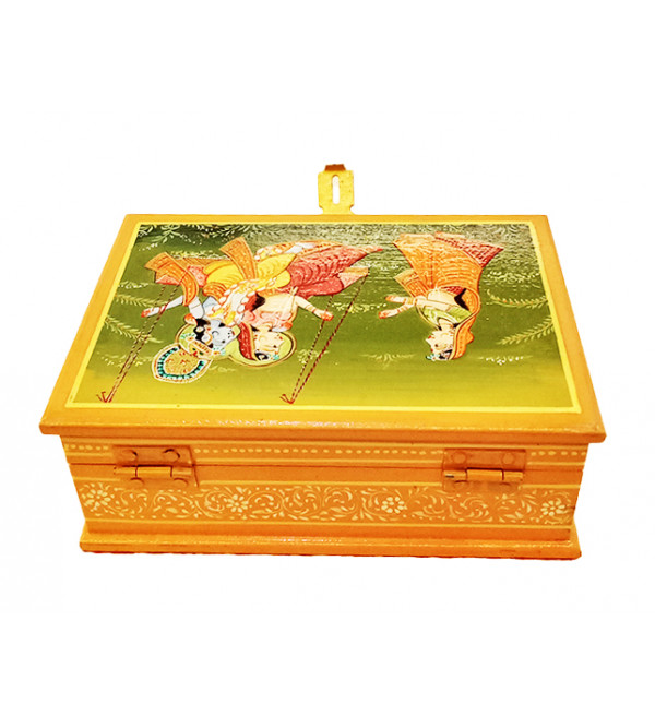Wooden Hand Painted Box Size 7X5 Inches