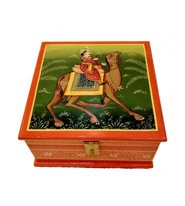 Wooden Hand Painted Box Size 6X6 Inches