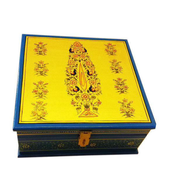 Wooden Hand Painted Box Jaipur Style