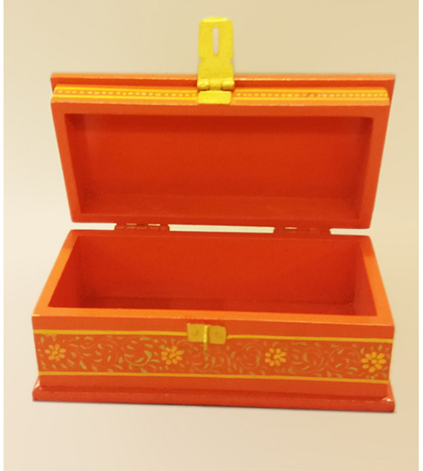Wooden Hand Painted Box Jaipur Style Size 6X3 Inches