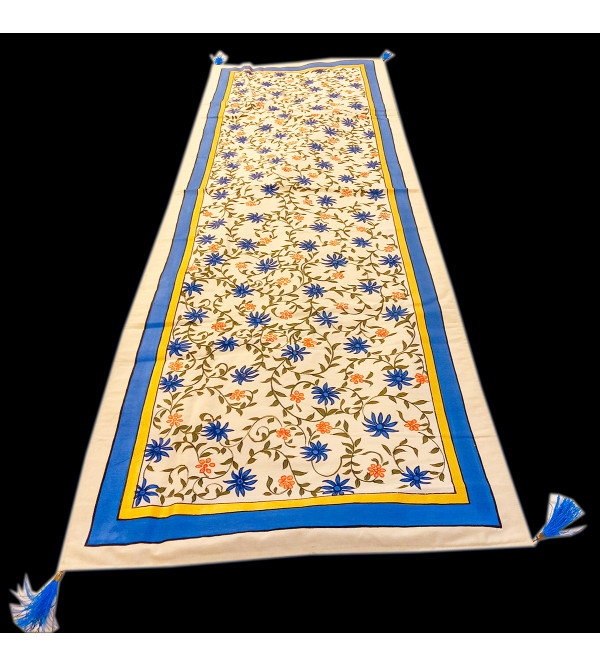 14X45 INCH  COTTON HAND PAINTED  RUNNER