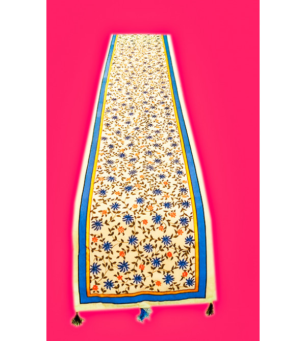 14X90 INCH  COTTON HAND PAINTED RUNNER