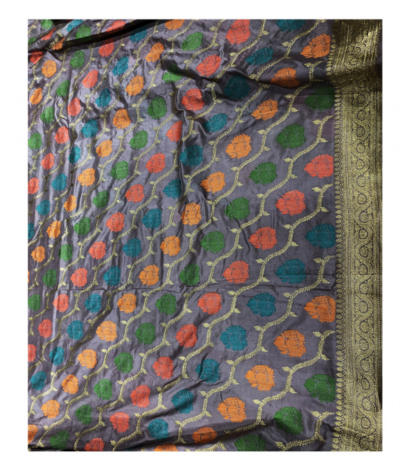 Katan Silk Handloom Banaras Kadua Saree with Blouse