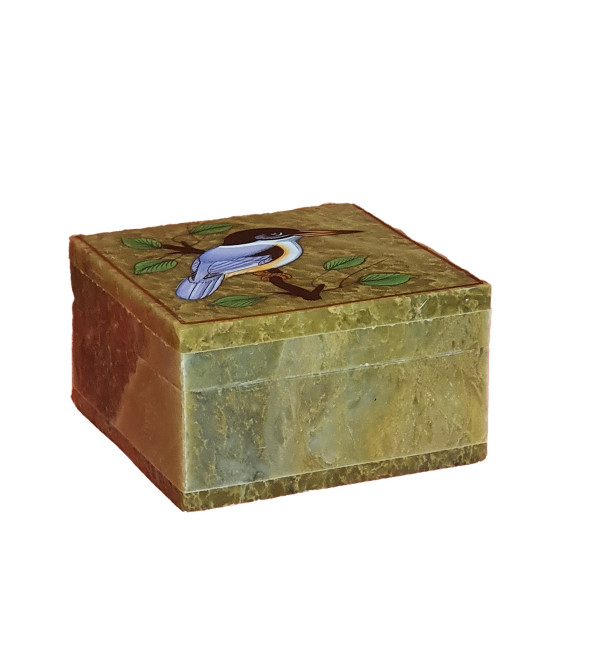 Soap stone painted box 3x4 inch