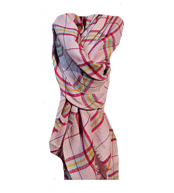 Cashmere Hand Woven Check Pashmina Stole Size,28X80 Inch