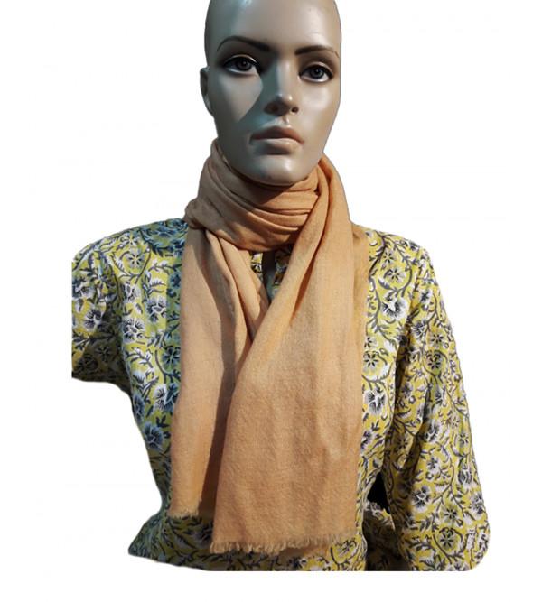 Pashmina Muffler Plain Hand Woven in Kashmir Size 22x80 Inch