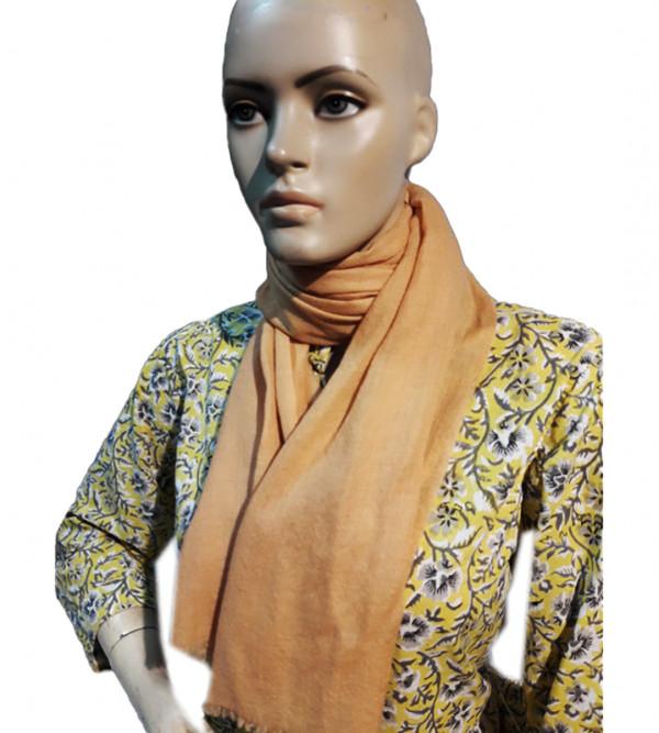 Cashmere Pashmina Muffler Plain Hand Woven in Kashmir Size 22x80 Inch