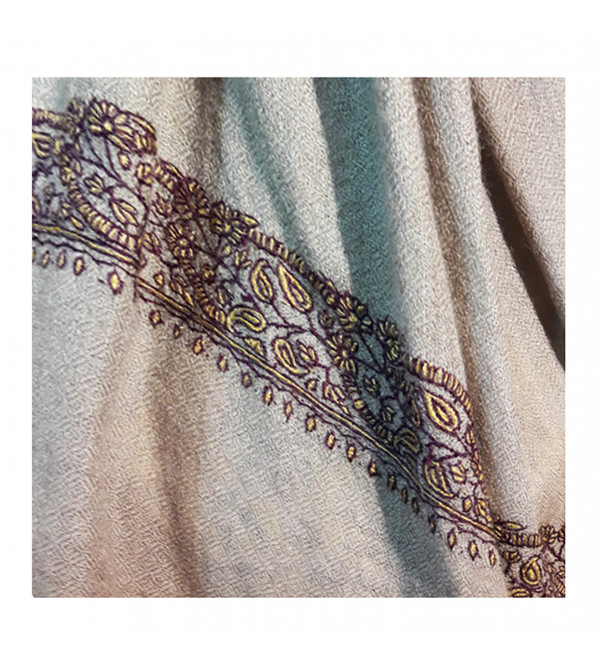 Cashmere Pashmina Muffler Hand Embroidered in Kashmir Size,20X72 Inch