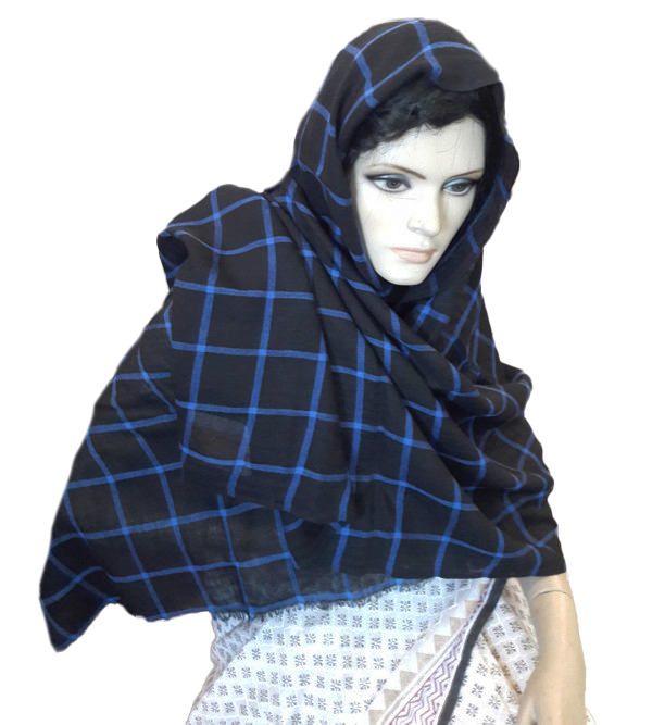 Woollen Slole Check Size ,28X80 Inch