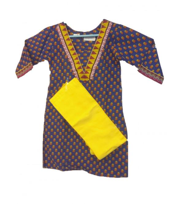 Cotton Salwar Kameez Set Size 8 to 10 Yr