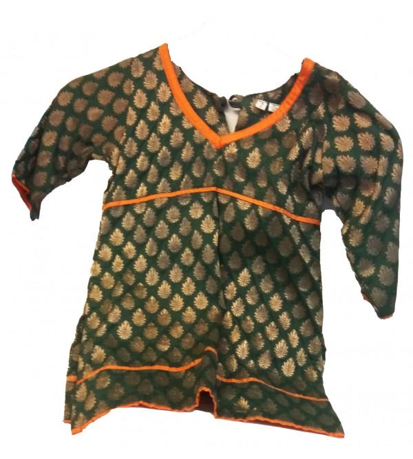 Brocade Silk Salwar Kameez Set Size 4 To 6 Years