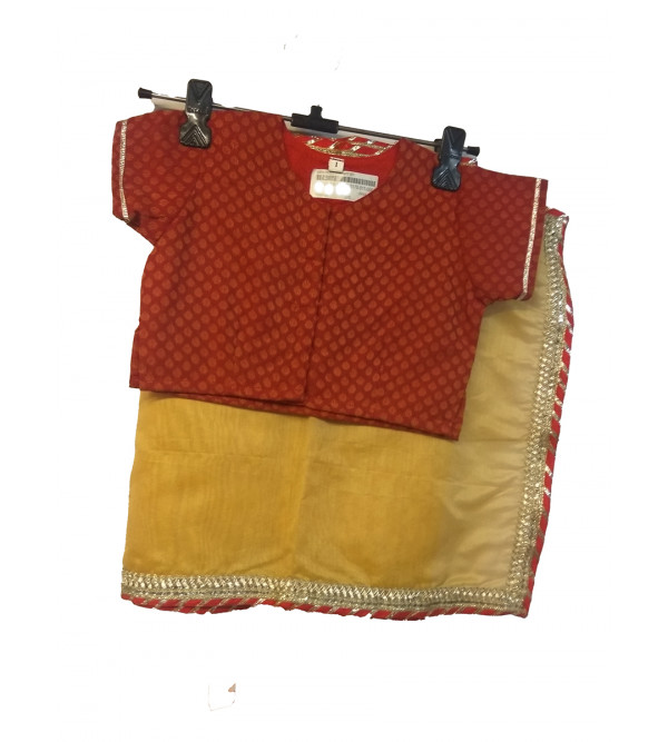 Cotton Stitched Saree With Blouse Size 2 to 4 Yr