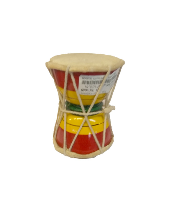 Musical Instrument Damroo Hand Crafted In Delhi Size 7.5x2 Inch