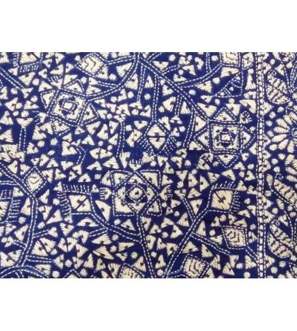 Handloom Shawl Woolen Kantha  EMB 40X80 cm